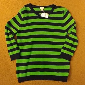 J. Crew womens size S striped sweater NWT